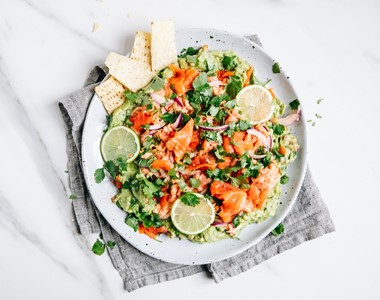 Mexican Salmon Platter Hero